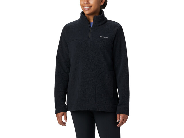 Columbia Canyon Point Sherpa Pullover Mujer, black